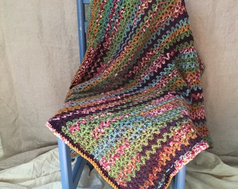 Crochet Multi-Colored Baby Blanket