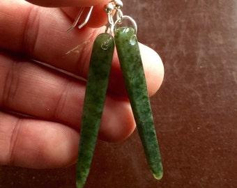 Jade Earrings, Hand crafted