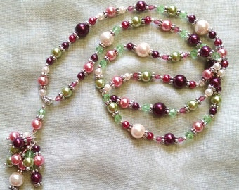 Pinks and Greens Necklace