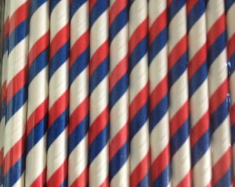 Red, White and Blue Paper Straws (pack of 25)