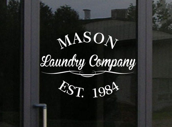 Custom Storefront Decal Your Business Name And