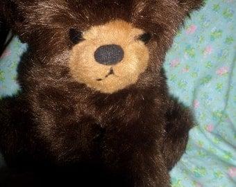 Vintage Gund Bear plush 1982 Dark Brown & Floppy