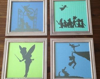 Peter Pan Framed Silhouette Art