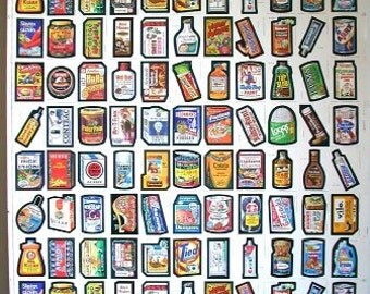 """Topps Wacky Packages 1979 Mint Uncut Sheet 132 Stickers 2 Complete Sets of #1 to #66 cards """"132 total"""" in excellent condition"""