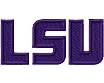 LSU Solid Fill 2 Machine Embroidery Design 3x3 4x4 5x5 Louisiana INSTANT DOWNLOAD