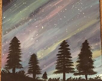 Painting of night sky