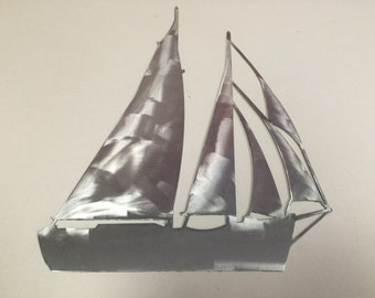 SAILBOAT Ocean Nautical Marine Sea Life 3 Beach House Home Metal Art Skilwerx