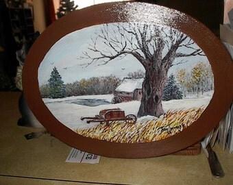 A Snowy Mill Scene