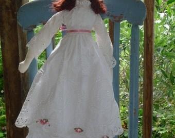 Amelia - a beautiful handmade cloth doll, a modern heirloom, gift for a girl