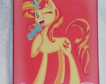Sun set Shimmer - My Little Pony - Brony Character - Just over A5 size -