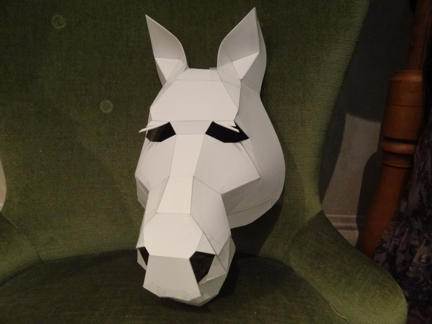 This is an image of Gorgeous Paper Mask Template