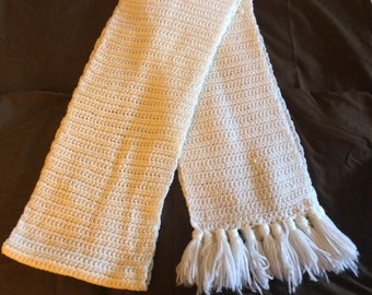 Crochet Scarf (Winter White)