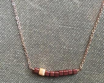 Copper Row Necklace