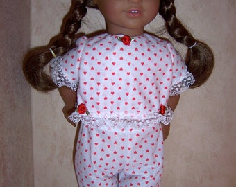 "American made Pajamas  for your favorite 18"" doll"