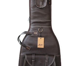 Auster Hand Made Leatherette Electric Guitar  Brown Gig Bag