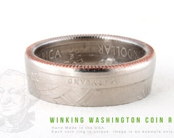 COIN RING - Fort Mc Henry - Handmade in the USA - All Sizes Available