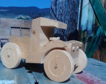 Toy Truck  Handcrafted of pine.