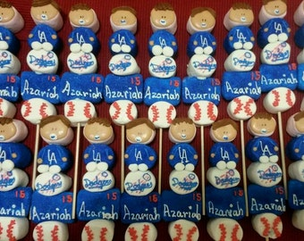 Sports Theme Baby Shower Marshmallow Pops