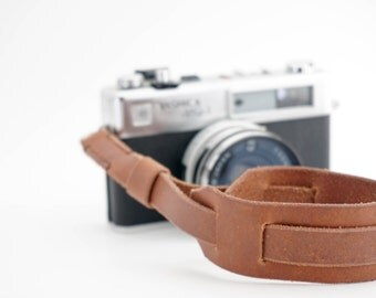 Hand-stitched Leather Camera Wrist Strap | Oil Treated Veg Tan