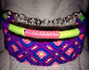 Neon Diamonds Friendship Bracelet