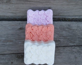 Fruit or Floral scented soap shea butter soap guest soap