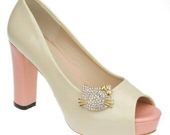 Kitty Shoe Clips