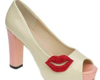 Strawberry Kisses Shoe Clips