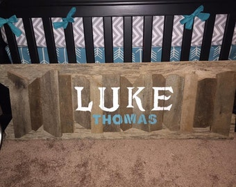 Personalized Rustic Wood Sign