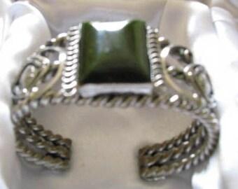 """Bakelite Cuff Bracelet Creamed Spinach 2-1/2"""" Wide"""