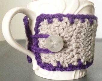 Crochet Coffee Mug Cozy - Two Tone