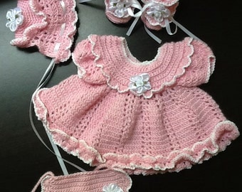 Crocheted Dress Set