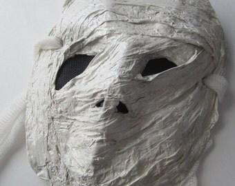 Creepy Mummy, paper mache mask
