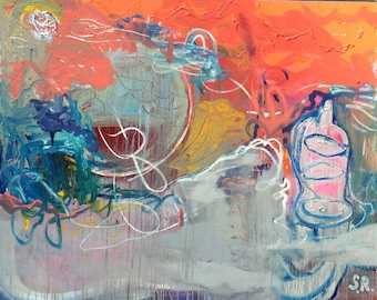 Abstract painting- Sleep to Dream