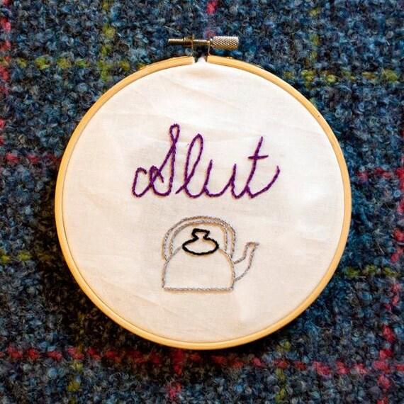 Nl tin kettle slut inch hand embroidery hoop