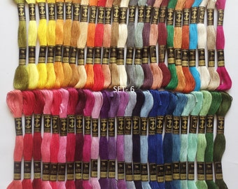50 Anchor Embroidery Cotton Thread  Skeins / Floss SET-6