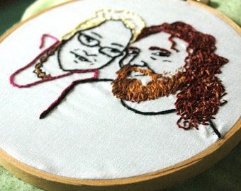 Custom embroidered Portraits_made to order