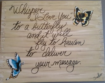 "16x20 Painting on Canvas ""Whisper I Love You"""