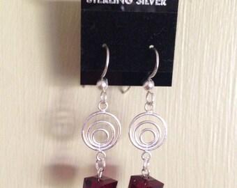 Swarovski and sterling earrings