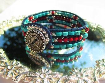 Turquoise Ladder Bracelet