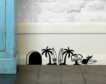 Surf Mouse Wall Sticker