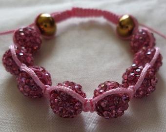 Lovely Pink - Shamballa Bracelet
