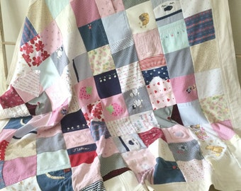 Mommy sized Baby Clothes Memory Blanket