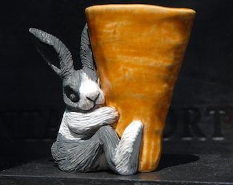 Sleeping Dutch Rabbit Vase