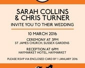 Penguin Book wedding invitation printable
