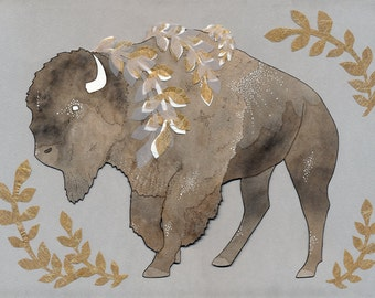 Imperial Bison print