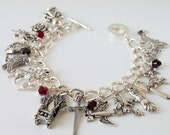 Winter is Coming charm bracelet inspired by Game of Thrones