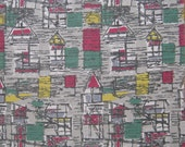 David Whitehead 50s Vintage Barkcloth Fabric