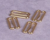 "Gold Metal Alloy Hooks 3/8"" -  10 Pairs (M910GO-10)"