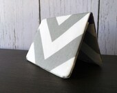 Card Wallet - Steel Gray Chevron