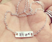 Yeshua - Custom Hand Stamped Sterling Silver Tag Necklace